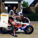 Leaving home on 23 May 1995. The Netherlands.