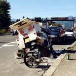 The repair of a puncture. Japan.