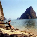 On an isle in Phang Nga Bay. Thailand.