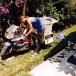 Maintenance in the Spiering's family yard on Phuket. Thailand.