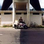 On the equator line near Bonjol on Sumatra. Indonesia.