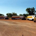 Road train at Larrimah Roadhouse in the N.T. Australia.