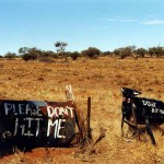 Warning sign. South Australia.