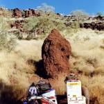 Termite hill in Yampire Gorge in Karijini N.P. Western Australia.
