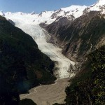 Franz Josef Glacier seen from the Alex Knob Walk. New Zealand.