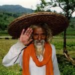 A shepherd, one hour east of Pokhara. Nepal.
