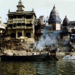 Varanasi on the river Ganges in Uttar Pradesh. India.