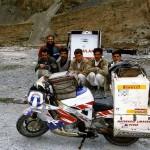 Last fuel! Sost, on the Karakoram Highway. Pakistan.