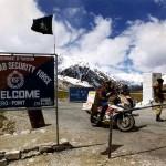 Border on the KKH, Pakistan - China.