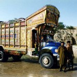 Typical truck near Rakhni. Pakistan.