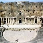 Roman theatre in Bosra. Syria.