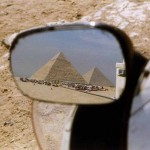 Pyramids of Giza near Cairo. Egypt.
