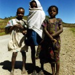 I gave these kids some food. Close to Maychew. Ethiopia