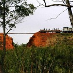 Railway near Iganga after bad weather. Uganda.