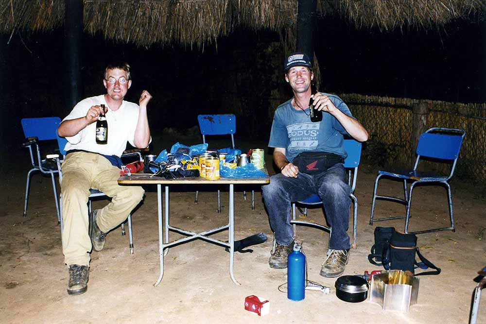 Camping with Ko van O. in Chipata. Zambia.