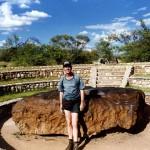 Hoba meteorite near Grootfontein. Namibia.
