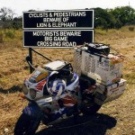 Warning sign alongside the K8. Swaziland.