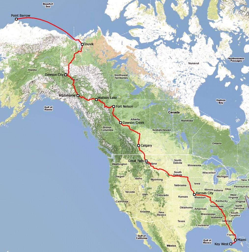 PIR 2013 geplande route