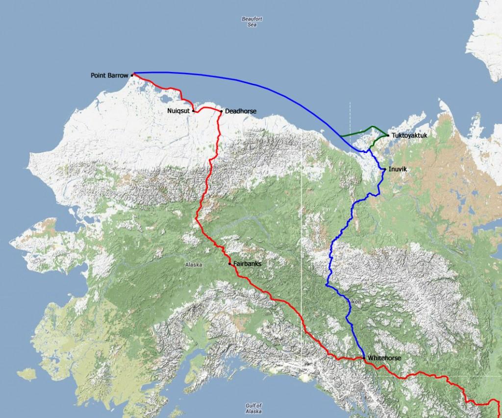 PIR 2013 gereden route