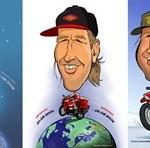 3 Caricatures • 3 Karikaturen