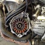 R1 alternator (worn) with more than 278,000 kilometres of use ••• R1-dynamo (versleten) na meer dan 278.000 kilometer