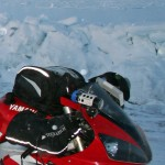 Xenon light from Touratech on the 2013 Polar Ice Ride R1 ••• Xenon-lamp van Touratech op de 2013 Poolijs-R1
