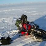 One of many times that I went down during the Polar Ice Ride Adventure ••• Eén van de vele keren dat ik tijdens het Poolijsavontuur tegen de vlakte ging