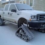 Optional support vehicle for the last leg ••• Optioneel supportvoertuig voor 't laatste stuk over 't ijs naar de Noordpool