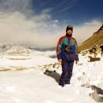 Thorung La Pass, while walking the Annapurna Circuit. Nepal.