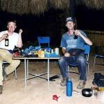 Camping with Ko van O. in Chipata. Zambia.